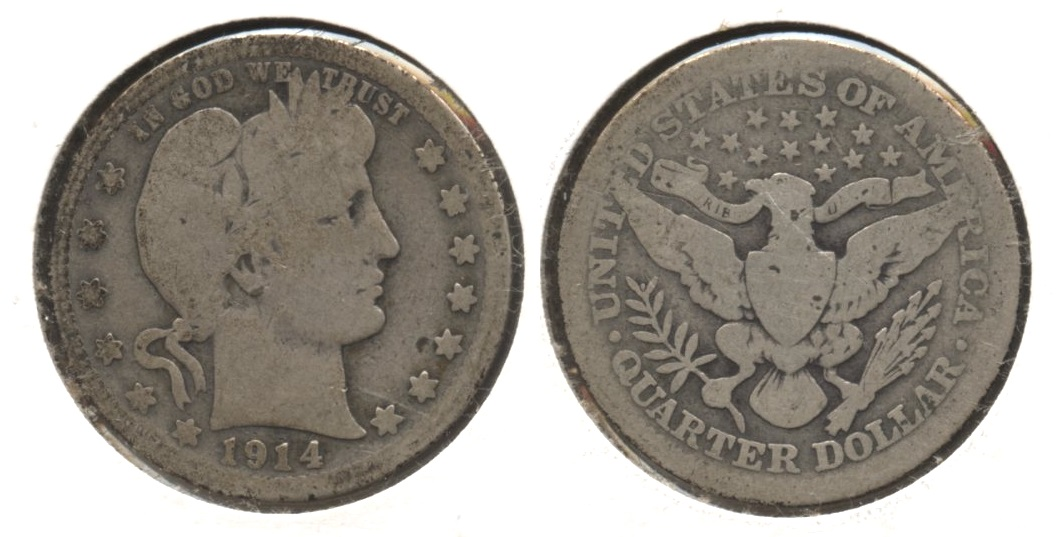 1914 Barber Quarter Good-4 #r