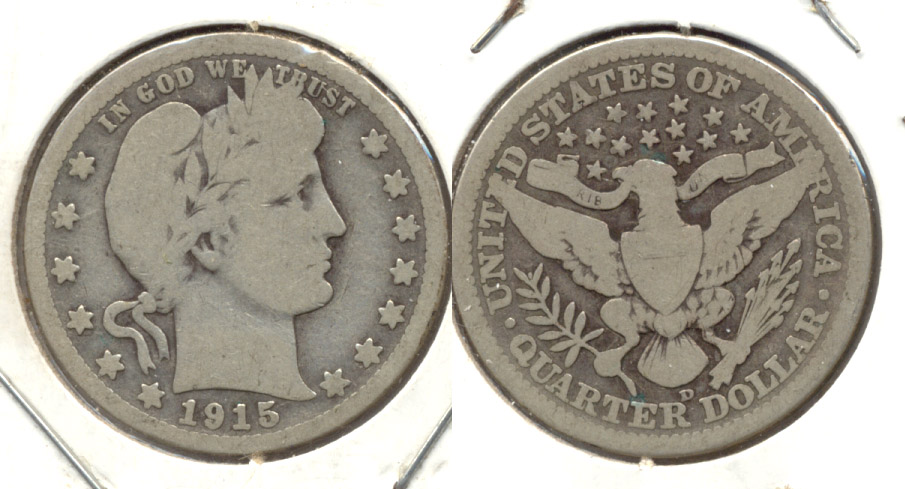 1915-D Barber Quarter Good-4 a