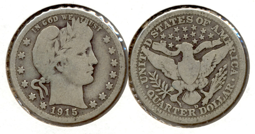 1915-D Barber Quarter Good-6