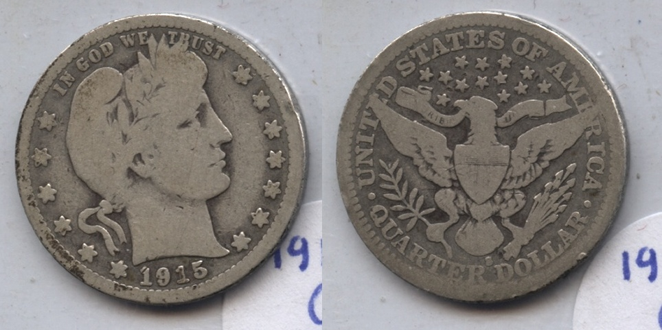 1915-S Barber Quarter Good-4 #b