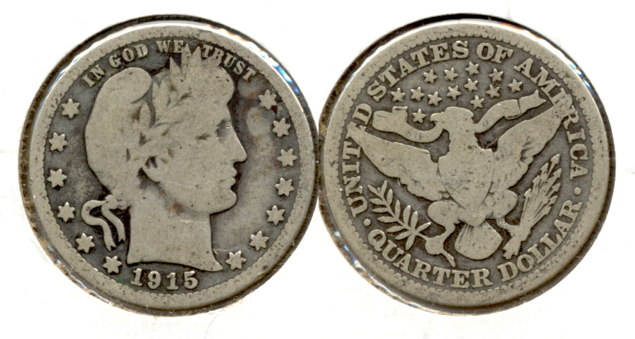 1915 Barber Quarter Good-4 f