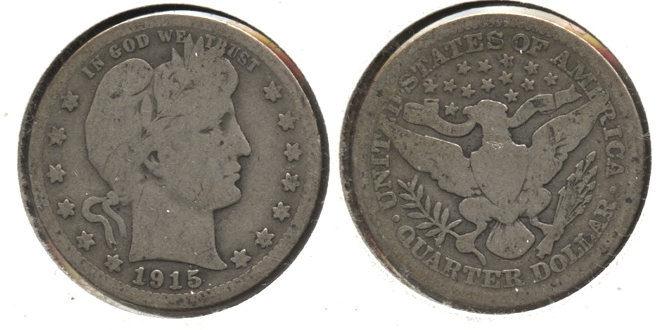 1915 Barber Quarter Good-4 #v