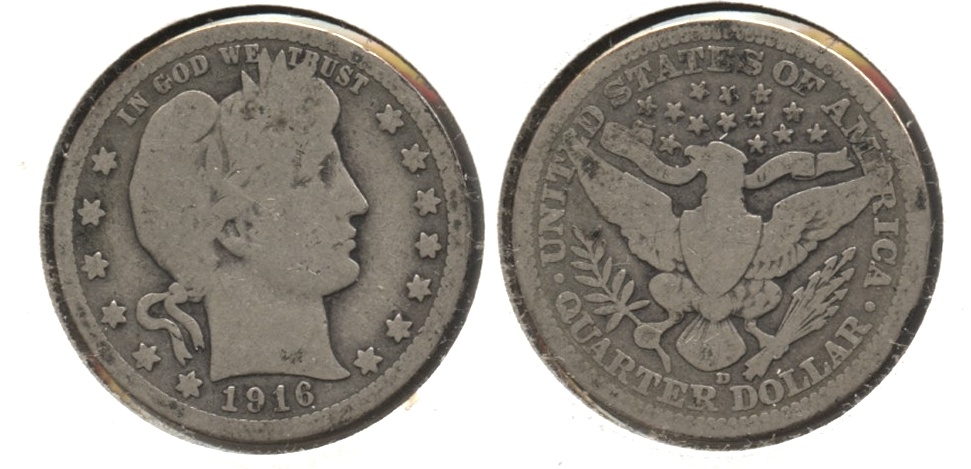 1916-D Barber Quarter Good-4 #n