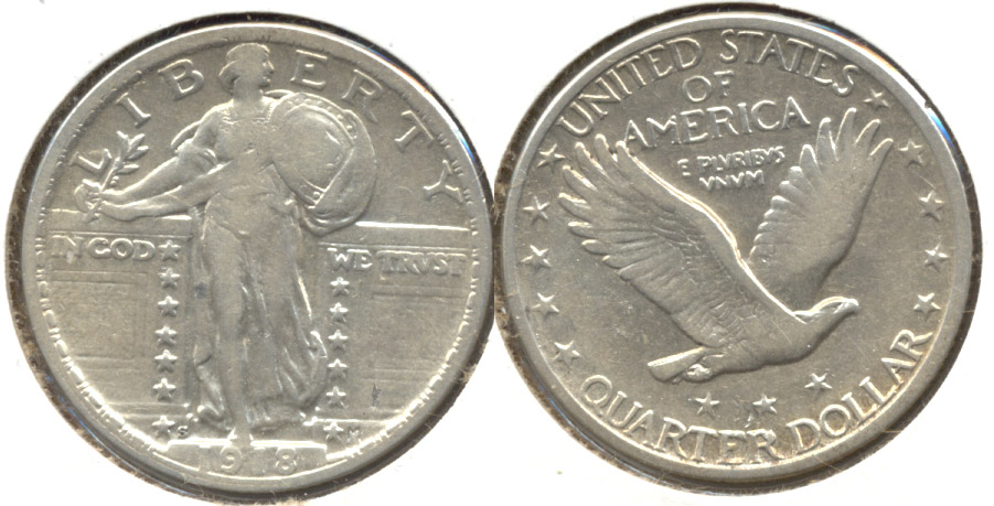1918-S Standing Liberty Quarter VF-20 Dipped