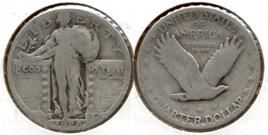 1928-S Standing Liberty Quarter Good-4 b