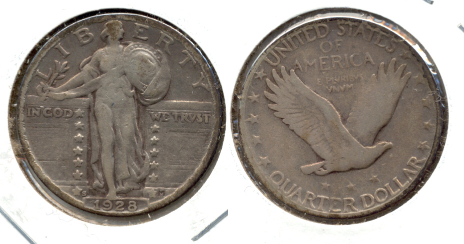1928-S Standing Liberty Quarter VF-20 a