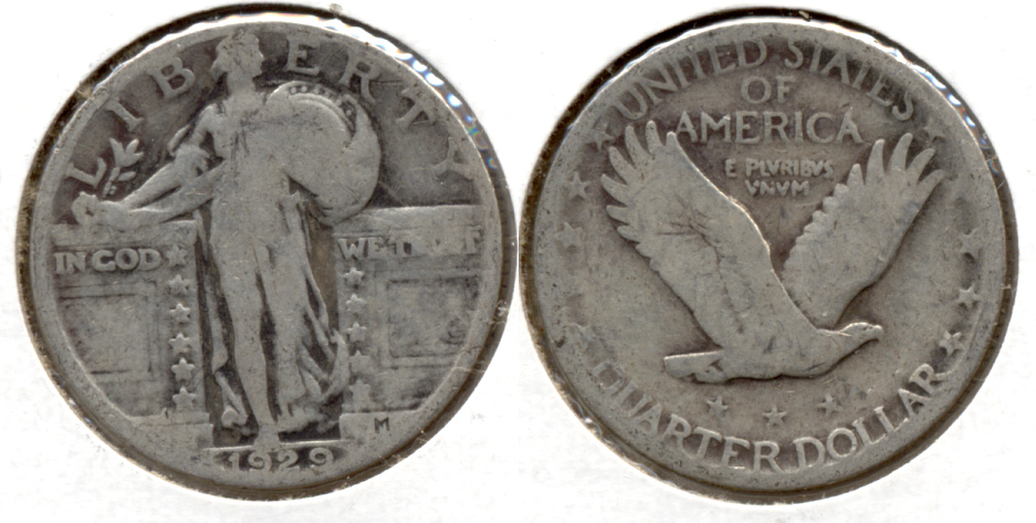 1929 Standing Liberty Quarter Good-4 a
