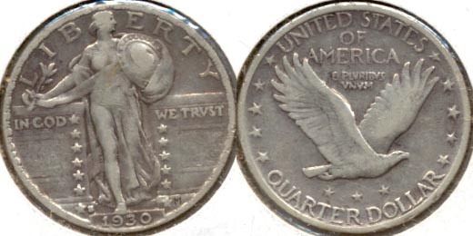 1930-S Standing Liberty Quarter VF-20