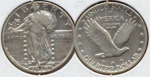 1930 Standing Liberty Quarter VF-20 a