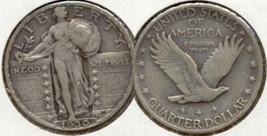 1930 Standing Liberty Quarter VF-20 c
