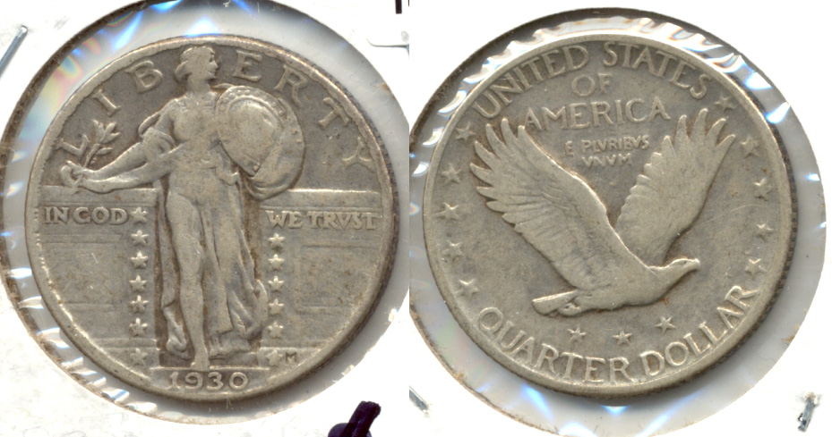1930 Standing Liberty Quarter VF-20 g