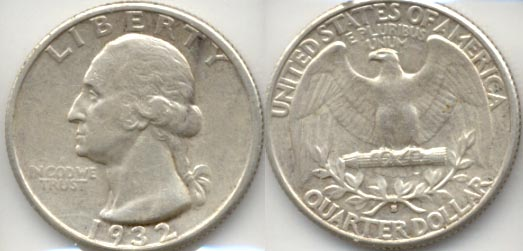 1932-S Washington Quarter EF-40 a