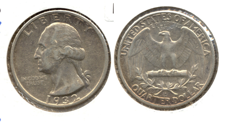 1932-S Washington Quarter EF-40 #b