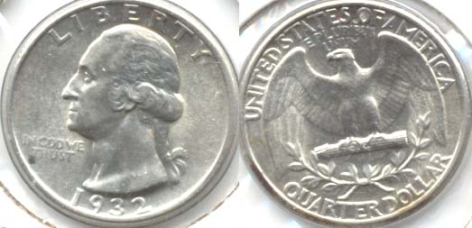 1932 Washington Quarter AU-55 a