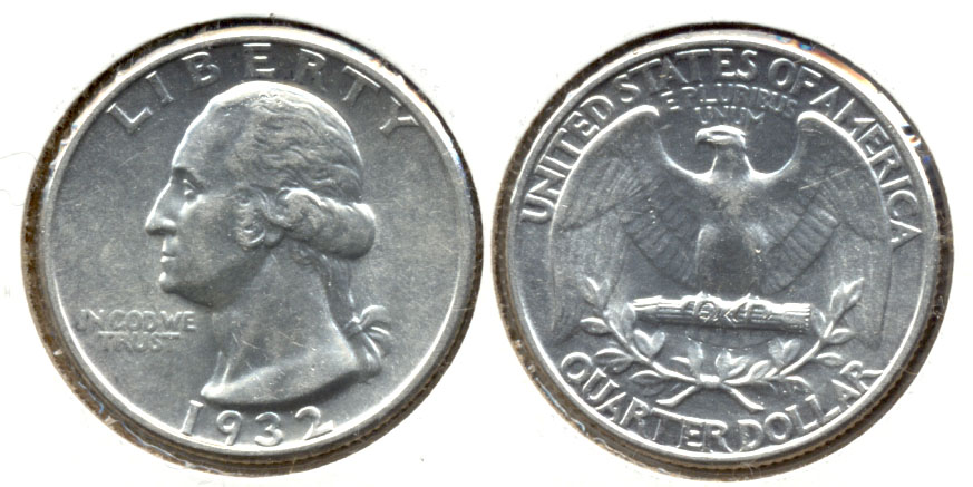 1932 Washington Quarter AU-55 b