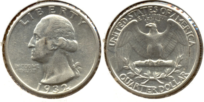 1932 Washington Quarter EF-45 a