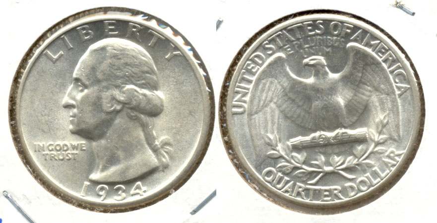 1934 Washington Quarter AU-55 i
