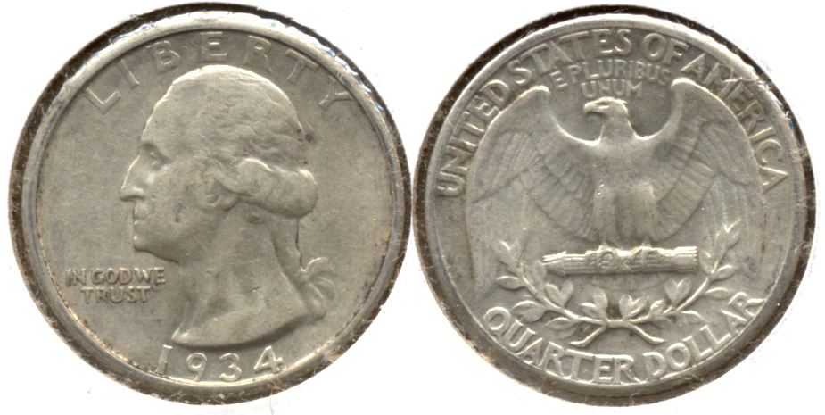 1934 Washington Quarter EF-40 d