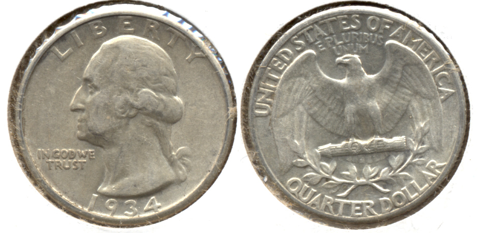 1934 Washington Quarter EF-40 e