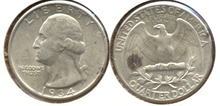 1934 Washington Quarter EF-40 f