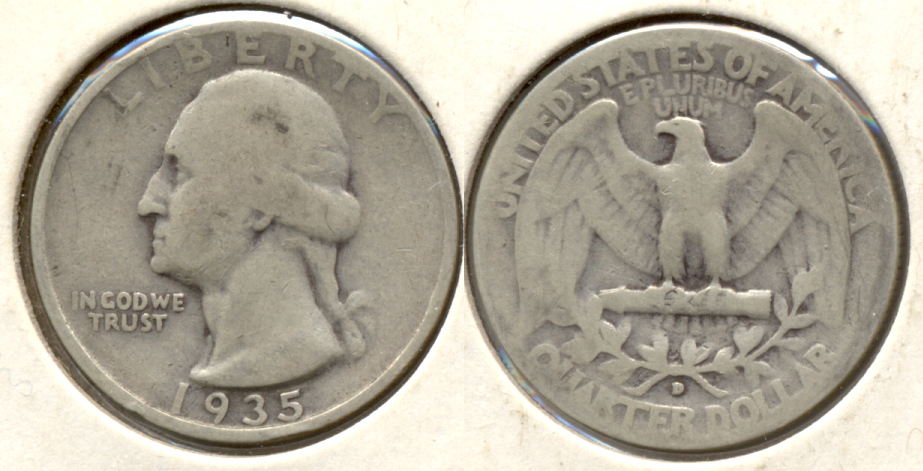 1935-D Washington Quarter Good-4