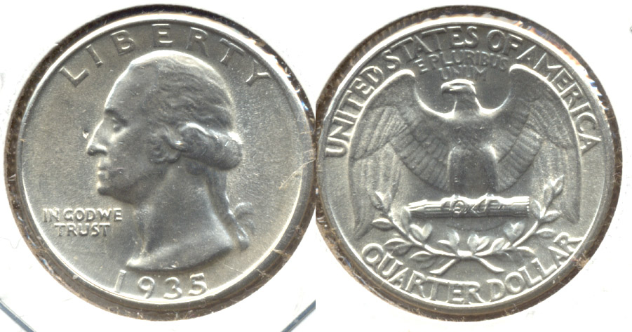 1935 Washington Quarter MS-63 a