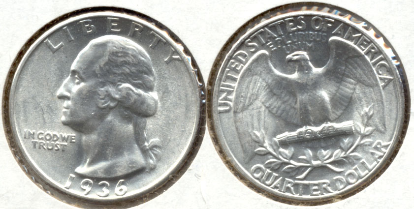 1936 Washington Quarter MS-64