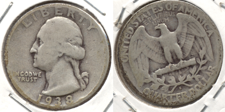 1938-S Washington Quarter Good-4