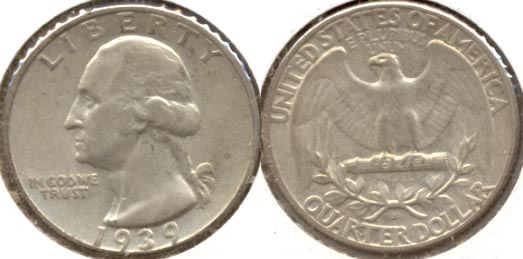 1939-S Washington Quarter EF-40