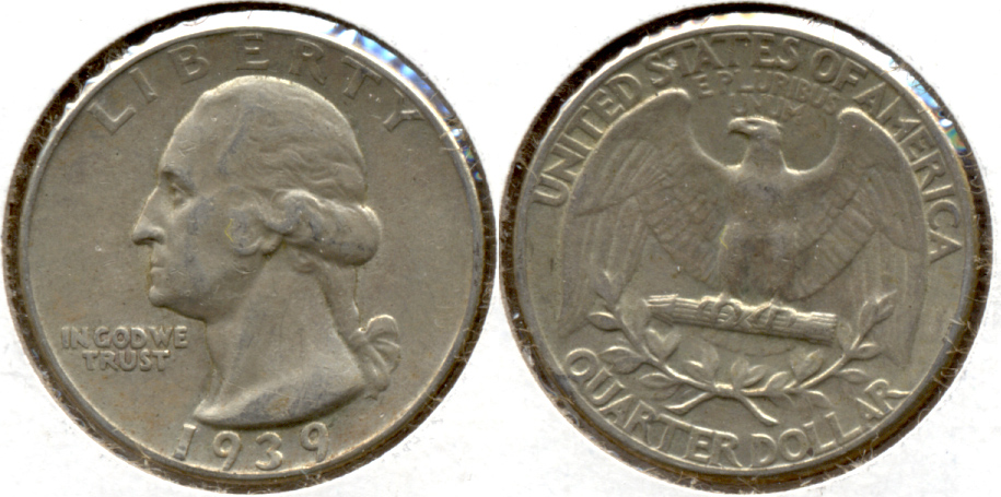 1939 Washington Quarter EF-40 a