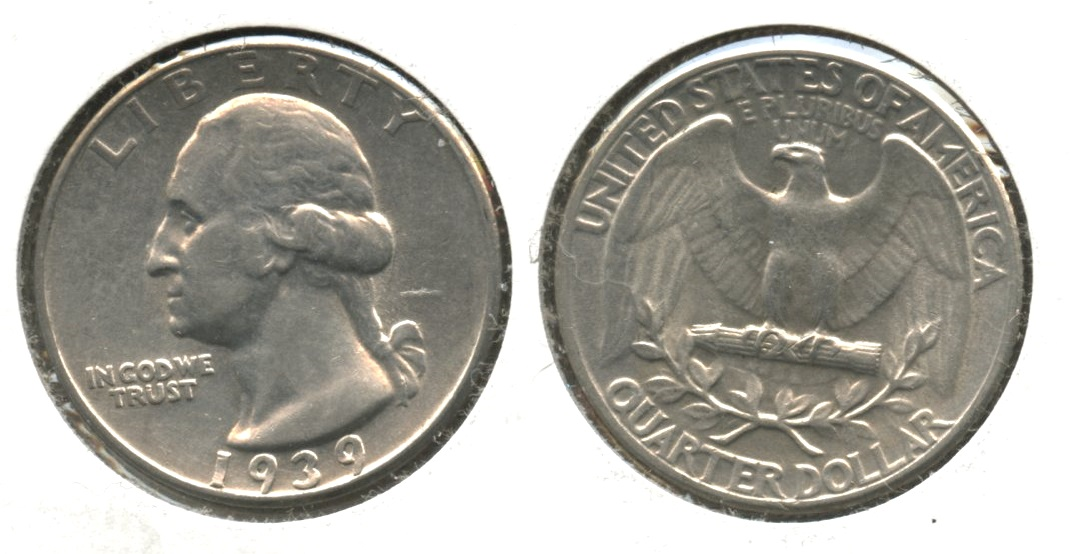 1939 Washington Quarter EF-40 #b
