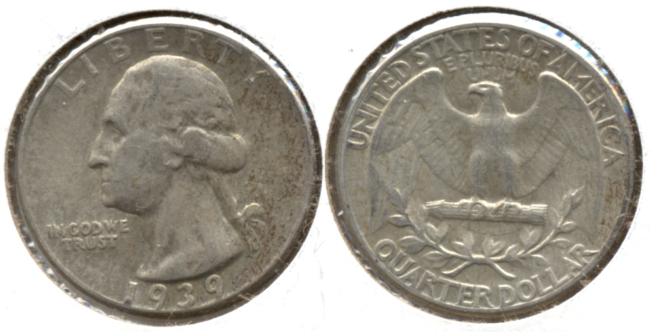 1939 Washington Quarter VF-20 a