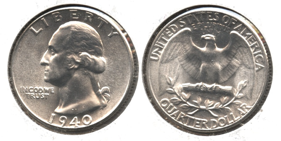 1940 Washington Quarter MS-65