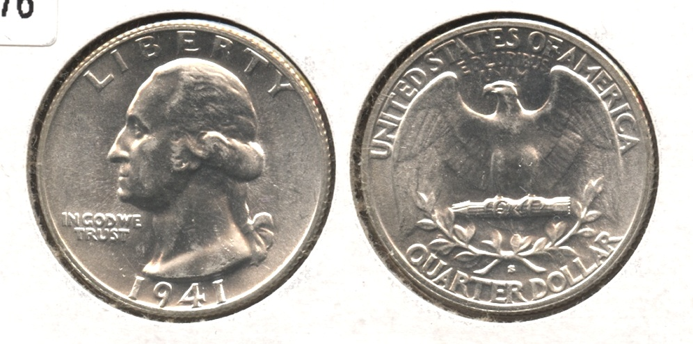 1941-S Washington Quarter AU-58