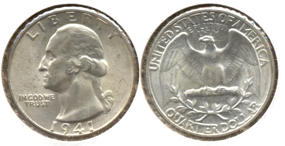 1941 Washington Quarter AU-55