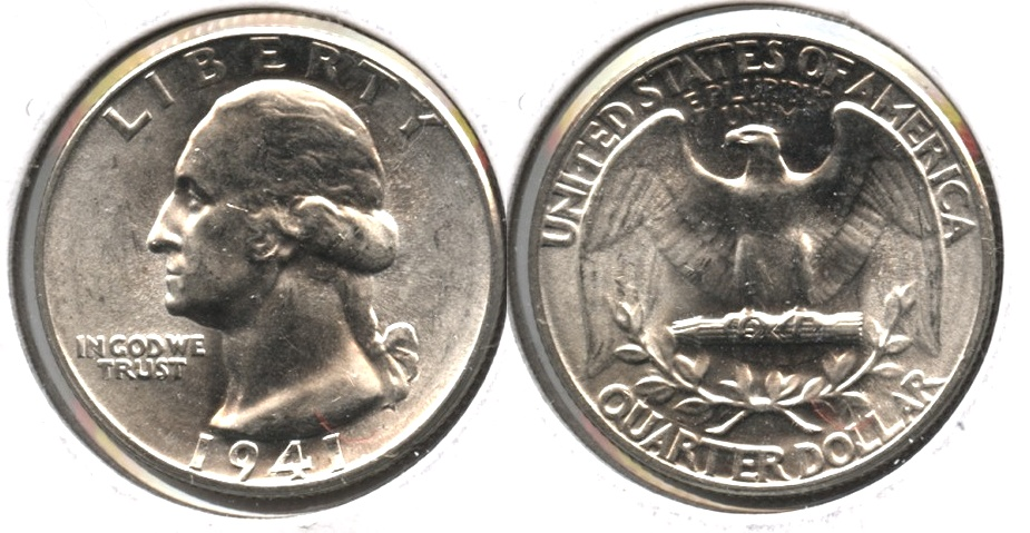 1941 Washington Quarter MS-63 g