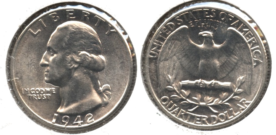 1942 Washington Quarter MS-64