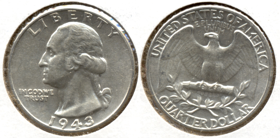 1943 Washington Quarter AU-50