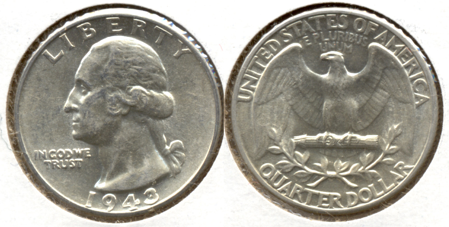 1943 Washington Quarter AU-50 d