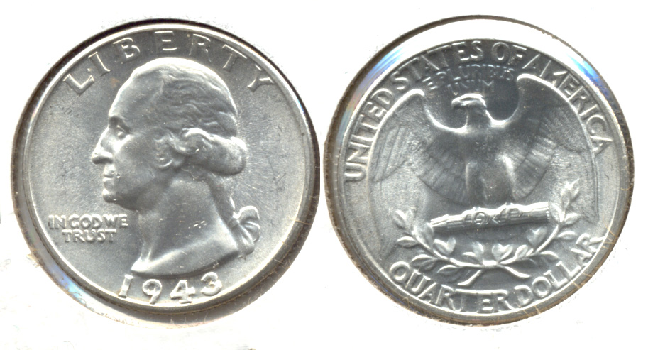 1943 Washington Quarter MS-63 a