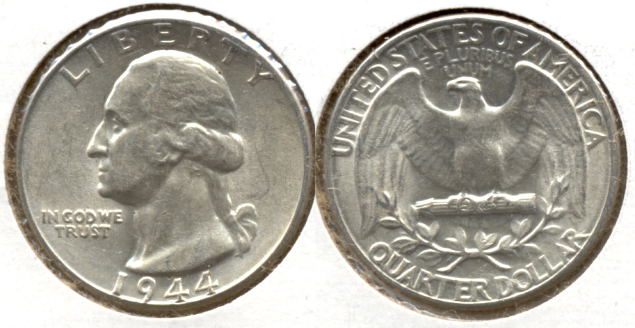 1944 Washington Quarter AU-50 l
