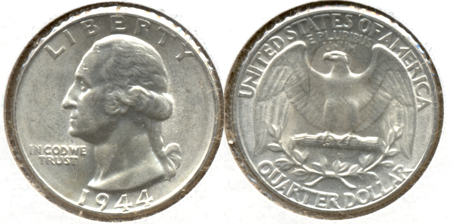 1944 Washington Quarter AU-55 i