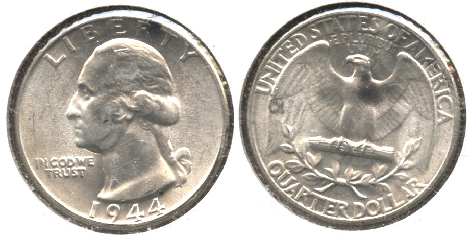 1944 Washington Quarter MS-60 #b