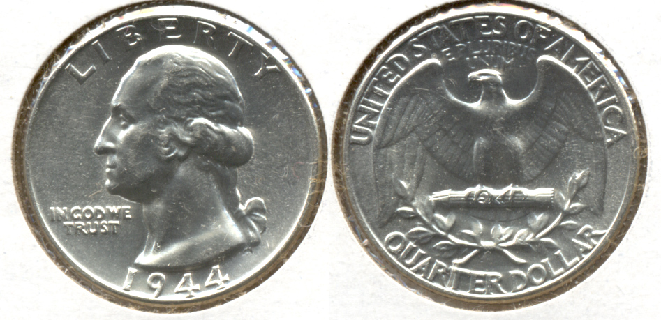 1944 Washington Quarter MS-60 w