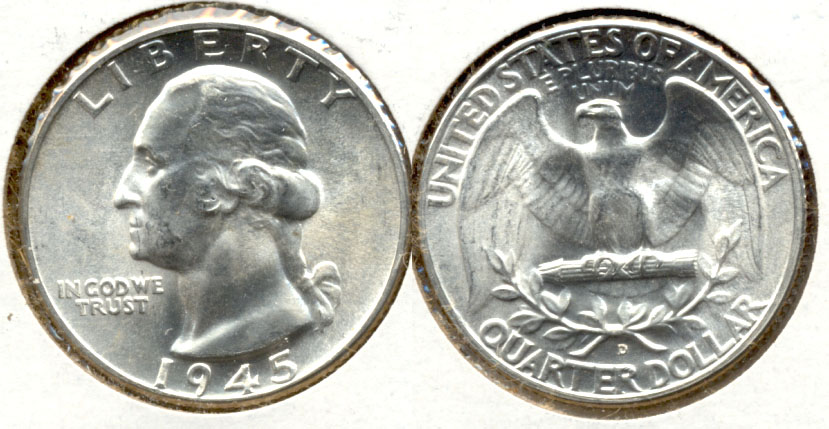 1945-D Washington Quarter MS-64