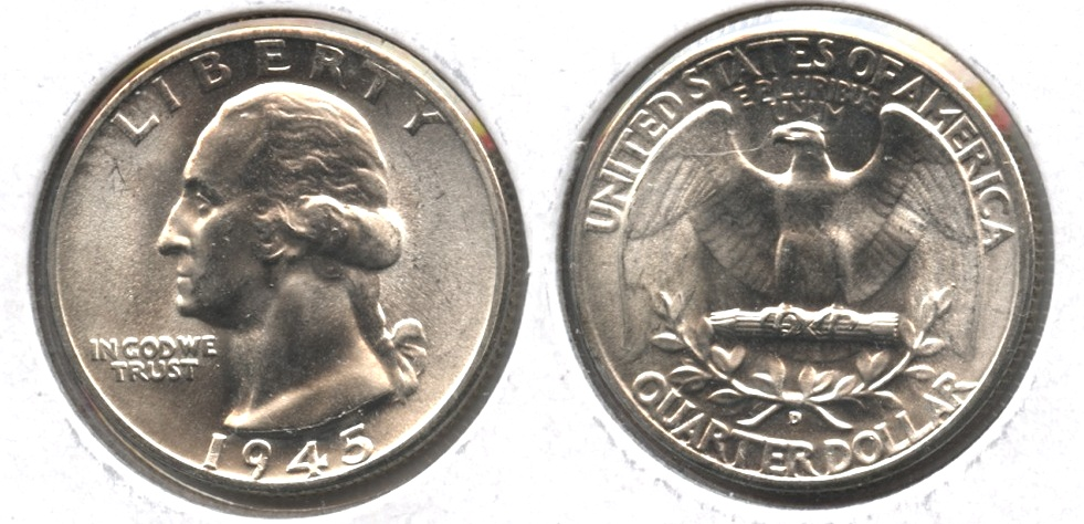 1945-D Washington Quarter MS-64 #h