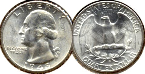 1945-S Washington Quarter MS-60