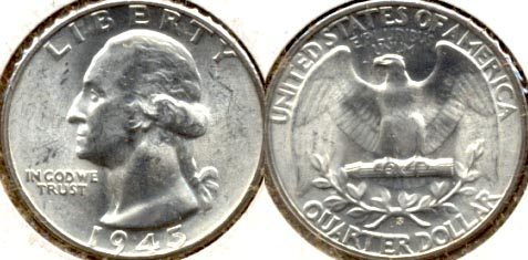 1945-S Washington Quarter MS-60 b
