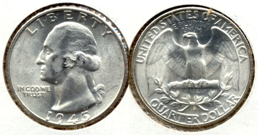 1945-S Washington Quarter MS-63 g