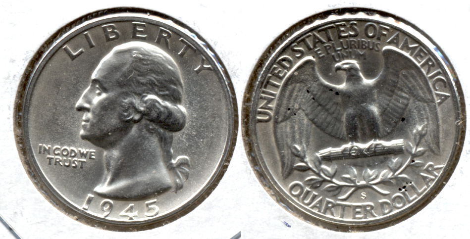 1945-S Washington Quarter MS-63 t
